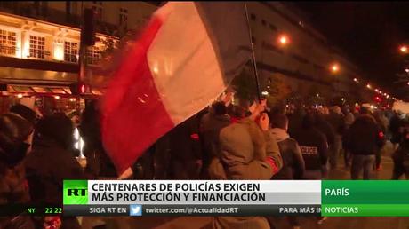 Centeneras de policías exigen más protección y financiación en Francia