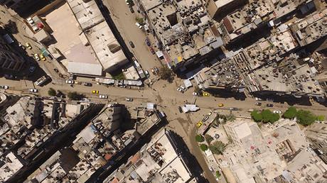 Vista de la ciudad de Alepo