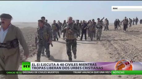El Estado Islámico ejecuta a 40 civiles mientras la tropas iraquíes liberan dos urbes cristianas