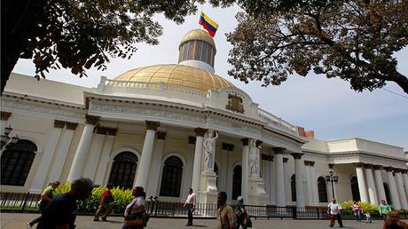 El Capitolio, sede de la Asamblea Nacional de Venezuela, en Caracas