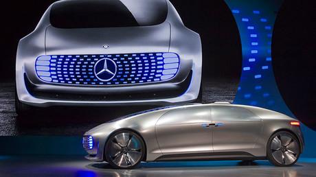 Mercedes-Benz presenta su nuevo coche autónomo durante  la Feria de Electrónica de Consumo en 2015, Las Vegas, EE.UU.