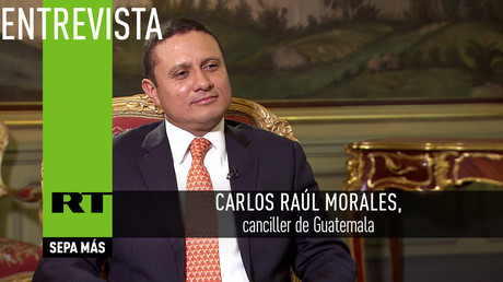 """Carlos Raúl Morales, canciller de Guatemala: """"Esperamos muchas inversiones rusas"""""""