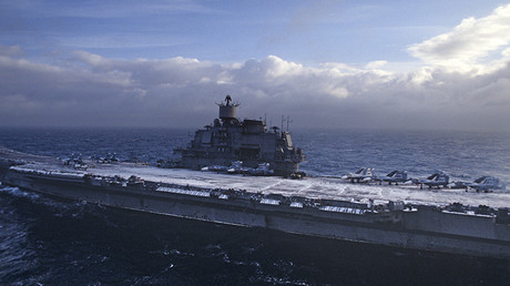 El portaaviones ruso Almiral Kuznetsov