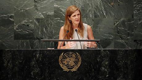 La representante de EE.UU. ante las Naciones Unidas, Samantha Power