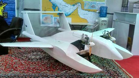 La supuesta imagen de un nuevo dron difundida por la agencia iraní Tasnim