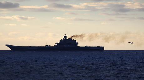 El portaaviones ruso Admiral Kutnesov