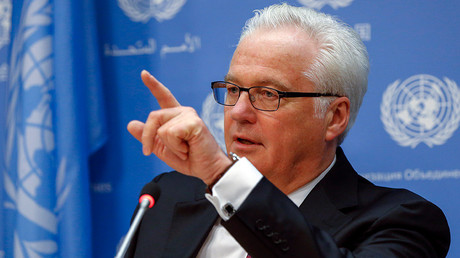 El representante permanente de Rusia ante la ONU, Vitali Churkin