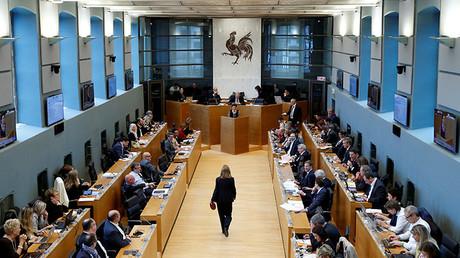 El Parlamento regional de Valonia durante los debates sobre el CETA.