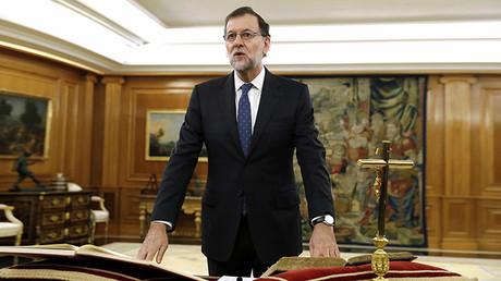 Mariano Rajoy jurando el cargo de presidente del Gobierno