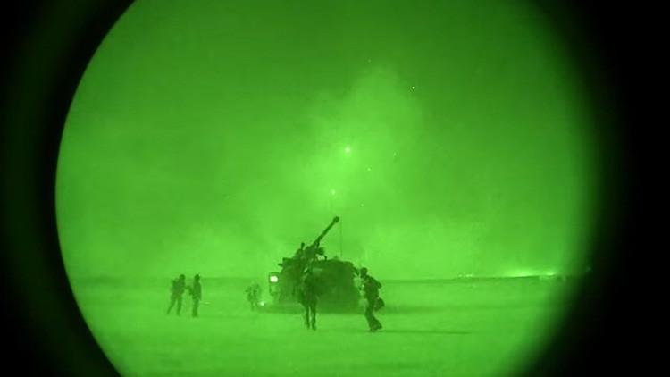 VIDEO: El ataque nocturno de la artillería francesa contra el Estado Islámico en Irak