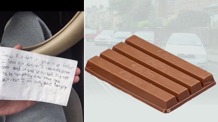"""""""Estoy muy hambriento"""": Le roba un chocolate y le deja una desoladora nota"""