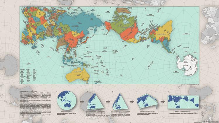 El llamativo mapa que muestra al mundo como realmente es