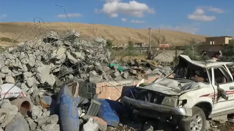 RT graba los efectos del bombardero de la coalición internacional en Mosul (VIDEO)