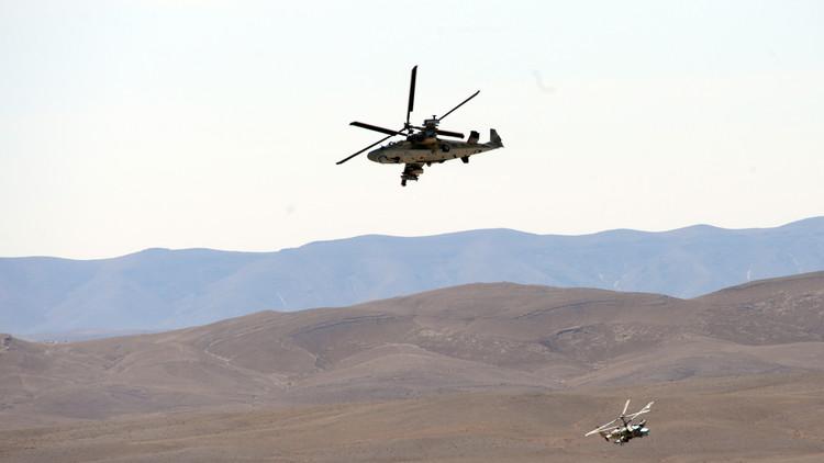 Moscú: Extremistas disparan contra un helicóptero ruso en Siria