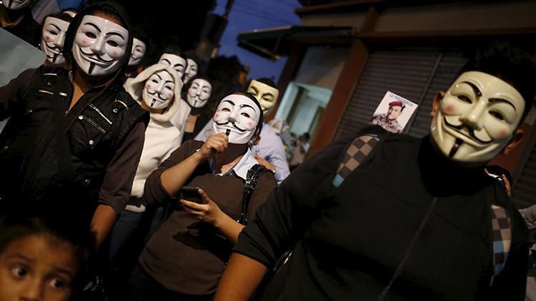 La 'Marcha del Millón de Máscaras' de Anonymous recorre cientos de ciudades del mundo
