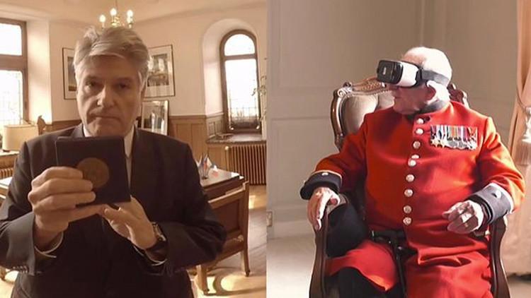 VIDEO: Un veterano británico visita gracias a la realidad virtual una ciudad que ayudó a liberar