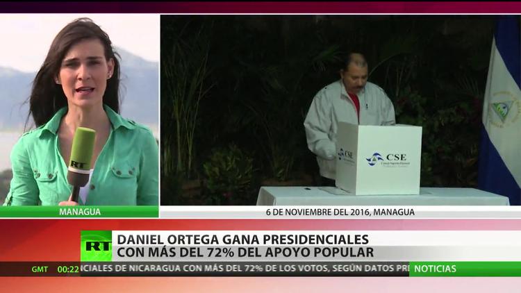 Ortega gana las elecciones presidenciales en Nicaragua con el 72% de los votos