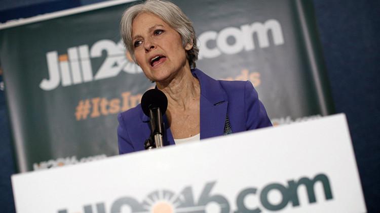 La candidata presidencial estadounidense del Partido Verde, Jill Stein