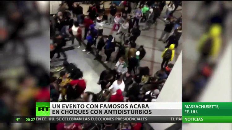 Un evento con famosos acaba en enfrentamientos con antidisturbios en EE.UU.
