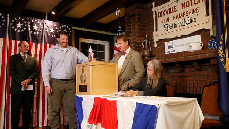 ¿Quién ha ganado en los tres primeros municipios de EE.UU. en votar?
