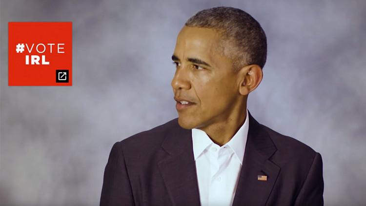 #VoteIRL: Obama lanza un peculiar mensaje a los votantes de EE.UU.