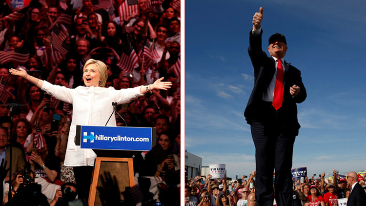 Siga la batalla de los dos candidatos en los estados clave