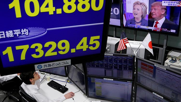 El pánico se apodera de los mercados ante la victoria de Trump