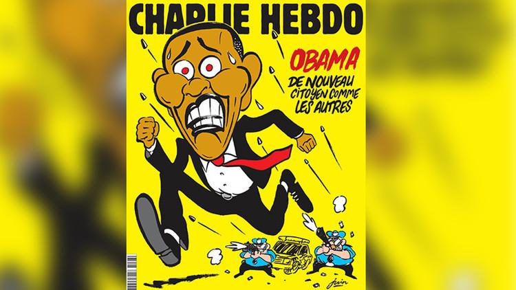 Obama, víctima de la Policía en la nueva portada de 'Charlie Hebdo'
