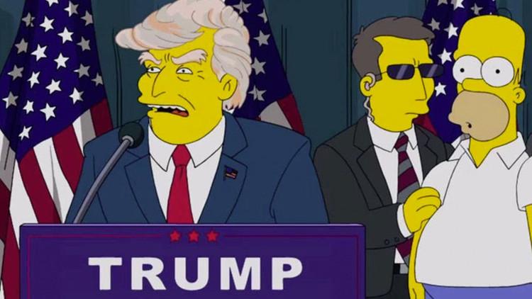 Profecía de 'Los Simpson' del 2000 cumplida: Trump ya es presidente