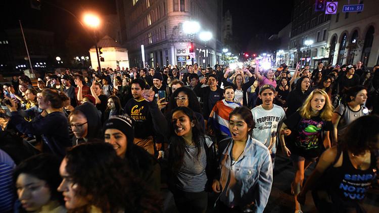 ¿Un segundo 'Brexit'?: Una ola de indignación sacude California (VIDEO)