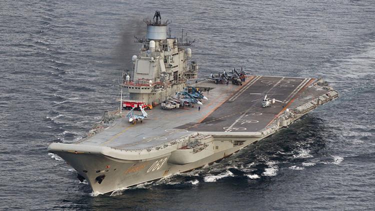 Avión espía de EE.UU. vuela cerca del portaaviones ruso Admiral Kuznetsov en las costas de Siria
