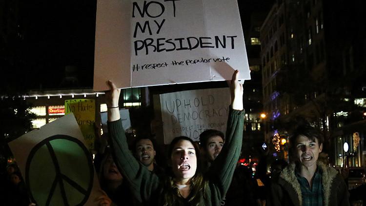 Segundo día de protestas contra Trump en Nueva York (VIDEO)