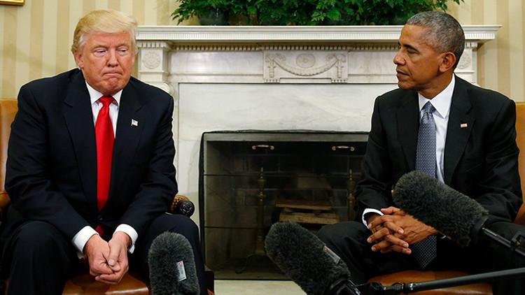 El lenguaje gestual revela la verdad de la reunión entre Obama y Trump (Fotos)