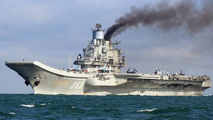 El portaaviones Admiral Kuznetsov asusta a los terroristas de Siria