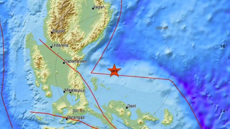Un sismo de magnitud 6,3 sacude las costas de Filipinas