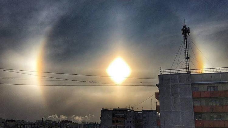 """FOTOS: El extraordinario """"arcoíris invernal"""" que se puede observar en Rusia"""