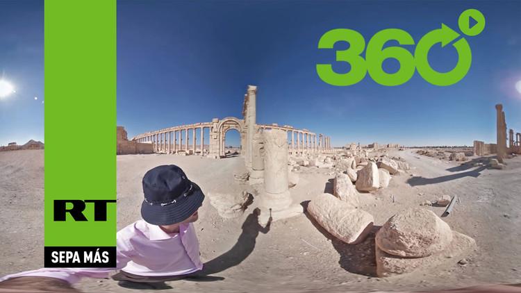 Así se ve en 360 grados la joya de Palmira después de la destrucción del Estado Islámico