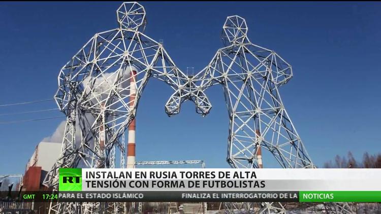En rusia instalan dos torres de alta tensi n con forma de for Torres en la cocina youtube