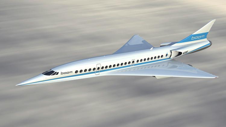 El multimillonario Richard Branson presenta su prototipo de avión supersónico comercial