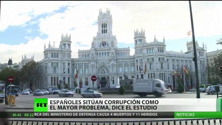 Los españoles estiman que la corrupción es el mayor problema de su país