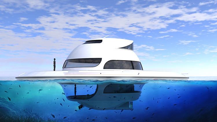 Video, fotos: Así es la 'casa-platillo volador' de lujo que le permitirá vivir en pleno mar