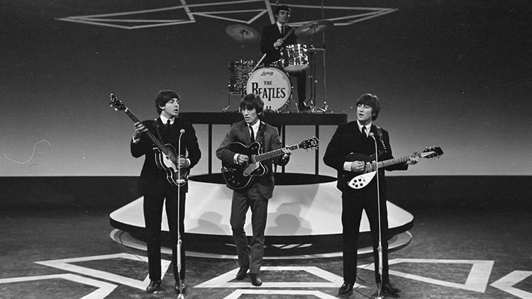'The Beatles' actúan en la ciudad de Hillegom (Países Bajos) en 1964.