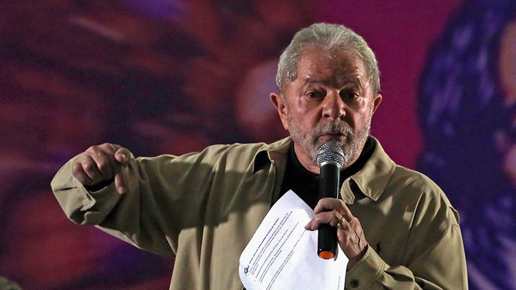 El expresidente brasileño Luiz Inacio Lula da Silva durante un encuentro en Santo André, Sao Paulo, Brasil, 15 de agosto de 2016