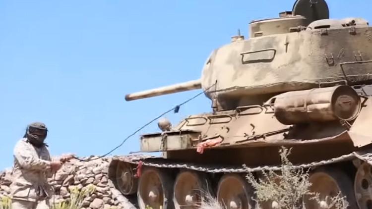 VIDEO: El legendario tanque soviético T-34 que combatió en la II Guerra Mundial reaparece en Yemen