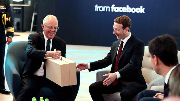 ¿Qué regalos se intercambiaron Zuckerberg y el presidente peruano?