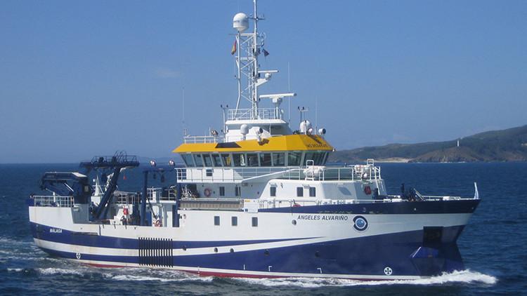 La armada británica lanza bengalas contra un buque oceanográfico español en Gibraltar