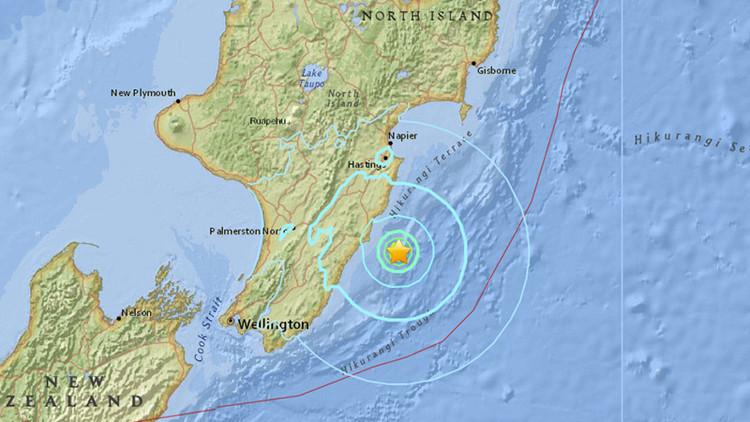 Un sismo de magnitud 5,6 se registra en Nueva Zelanda