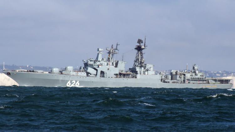 Una fragata rusa rescata a un pesquero ucraniano a la deriva en el Mediterráneo (VIDEO)