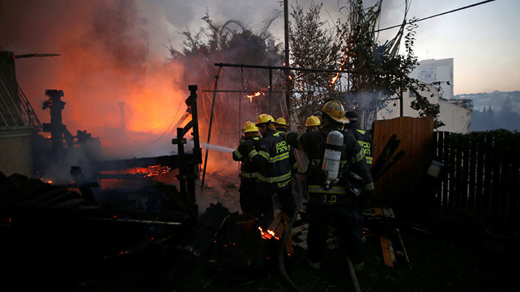 Palestina ayudará a Israel a combatir los incendios que arrasan el país