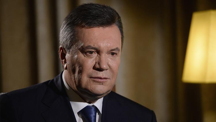 """Yanukóvich, sobre su interrogatorio: """"Hay algunos que no quieren escuchar la verdad"""""""